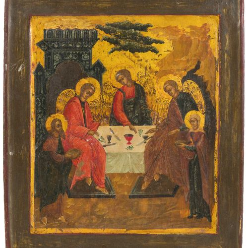 Gastmahl Abrahams (AT Dreifaltigkeit) Festa di Abramo (Trinità OT)  Russo, 1800 …