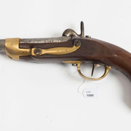 Perkussionspistole Pistolet à percussion  France M 1822 T, daté 1825 sur le cano…