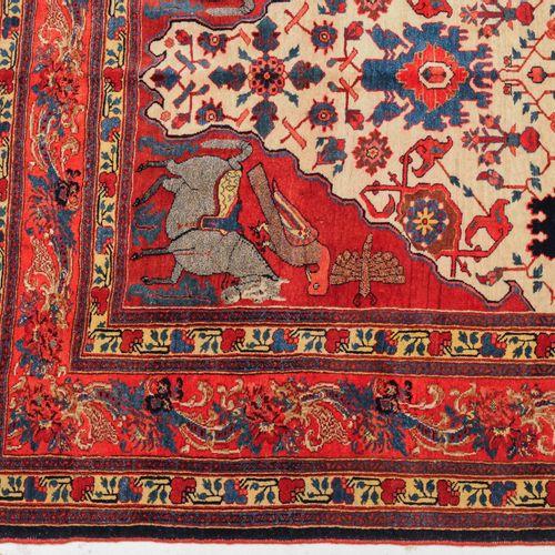 BIDJAR Bijar  Perse occidentale, vers 1900. Un tapis à poils extra fins avec un …