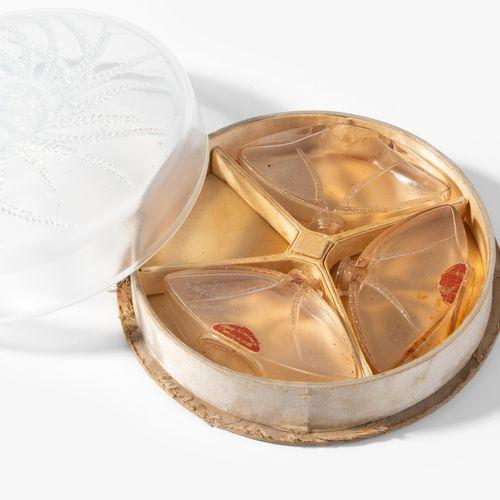 "René Lalique, Dose ""Houbigant Quatre Flacons"" René Lalique, scatola ""Houbigant Q…"