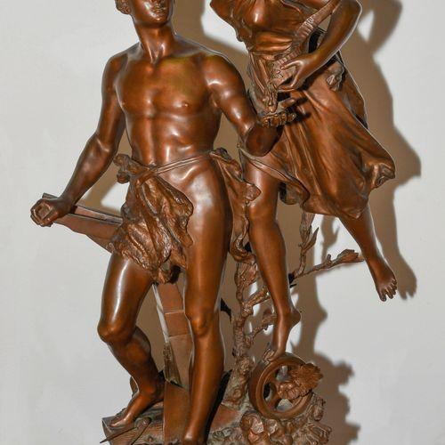 """Figurengruppe """"La Récompense"""" Groupe de figures """"La Récompense  France, fin du X…"""