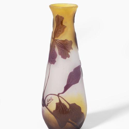 Emile Gallé, Vase Emile Gallé, vaso  Nancy, inizio del XX secolo, firma altament…