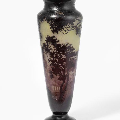 ANDRE DELATTE, Vase André Delatte, Vase  Nancy, um 1920. Nadelgeätzte Signatur. …