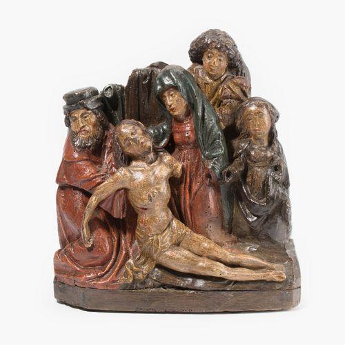 """Relief """"Beweinung Christi"""" Relieve """"Lamentación de Cristo  Alemán, siglo XVI. Ma…"""