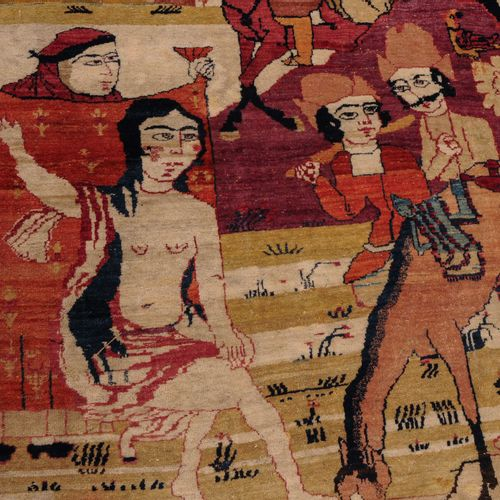 Kirman Figural Kirman figurato  S Persia, 1880 circa, tappeto figurato. Il legge…