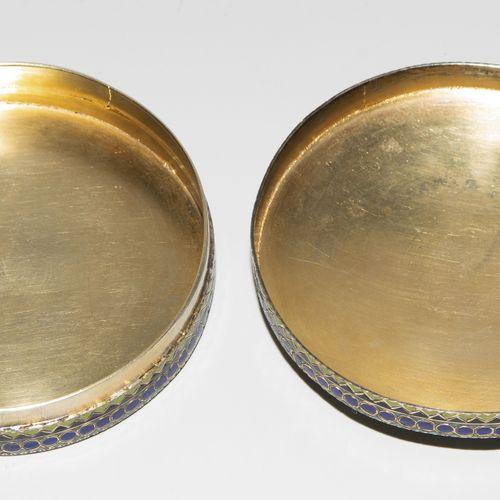 Dose Box  Mosca, 1882 1899. Argento dorato e smalto. Marchio del fabbricante Pav…