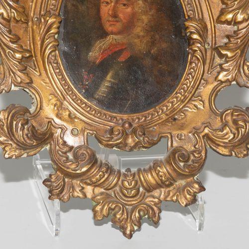 Porträtminiatur Portrait miniature  XVIIIe siècle, huile sur cuivre, ovale. Port…
