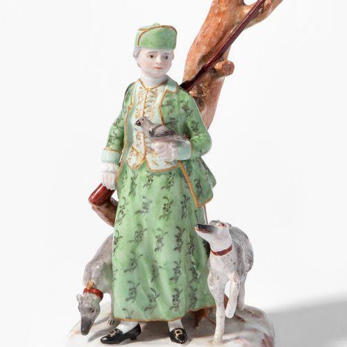 """Zürich, Figur """"Jägerin"""" Zürich, Figur """"Jägerin""""  Um 1770. Weichporzellan. Unterg…"""