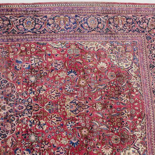 Kashan Seide Seda de Kashan  Z Persia, c. 1910. Material de pelo de seda pura. E…