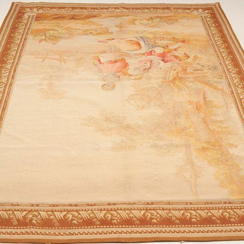 TAPISSERIE Tapisserie  France, Aubusson, c. 1850. Fin travail de la soie. Scène …