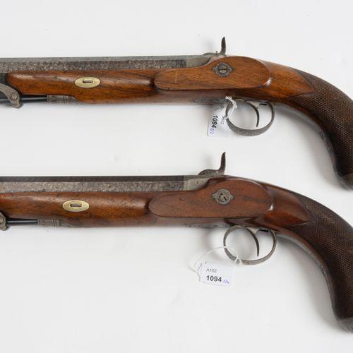 Perkussionspistolen Paar Paire de pistolets à percussion  Genève vers 1850, prob…