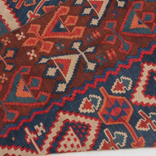 Aydin Kelim Aydin Kelim  Z Turquie, vers 1910. 6 octogones en turquoise et rouge…