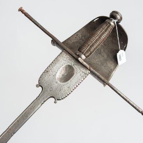 Linkhanddolch Poignard pour gaucher  Espagne, vers 1700. Poignée en fer avec un …