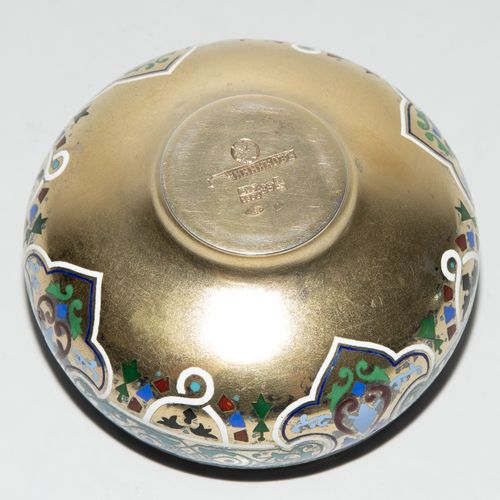 Kleine Schale Petit bol  Moscou 1885. Argent doré/émail. Marque du fabricant Pav…