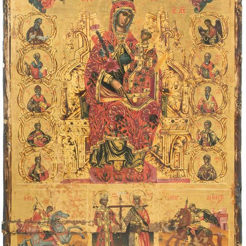 Gottesmutter unverwelkliche Blume und Heilige Madre di Dio, fiore immutabile e s…