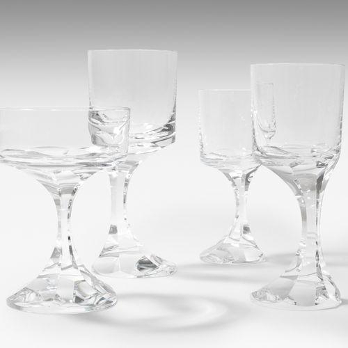 "Baccarat, Gläserservice 巴卡拉,玻璃服务  20世纪,鲍里斯 塔巴科夫的模型,1971年,""Narcisse""。无色水晶玻璃。切割装饰。…"