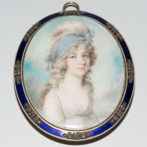 Porträtminiatur, Richard Cosway Portrait miniature, Richard Cosway  Angleterre, …
