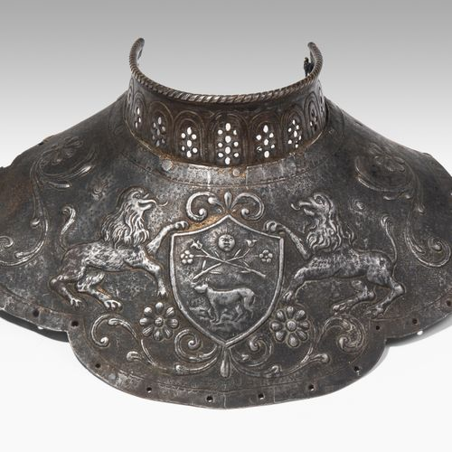 Prunk Harnischkragen Collier d'armure voyant  Fragment, Allemagne/Suisse, 1ère m…