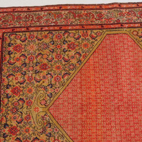MALAYER Malayer  Z Persia, 1910 circa. L'intero campo esagonale rosso è coperto …