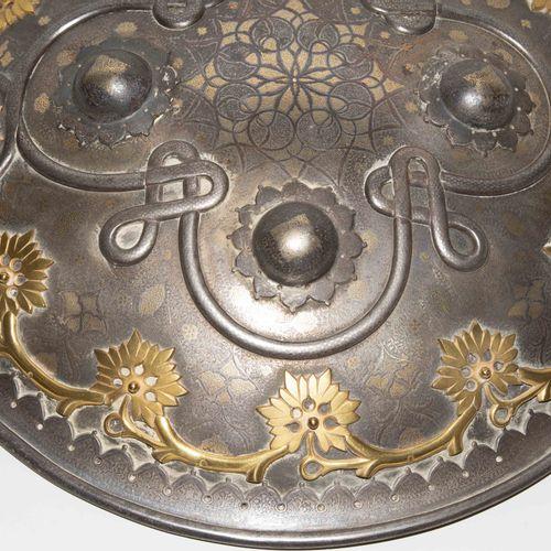 Rundschild, Sipar Bouclier rond, Sipar  Inde, 19e siècle. Une arme magnifique d'…