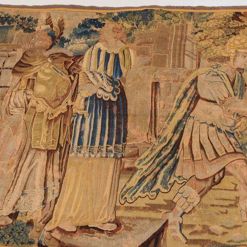 Tapisserie Fragment Fragment de tapisserie  France, vers 1700. Scène de cour rep…
