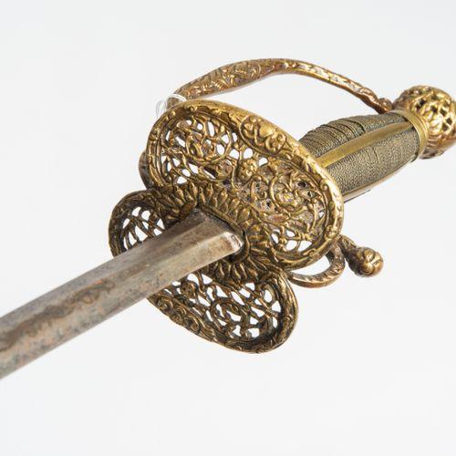 Galadegen Épée de gala  Allemagne du Nord/Scandinavie, fin du XVIIe siècle. Poig…