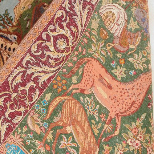 Täbris Figural Figuras de Tabriz  Noroeste de Persia, c. 1960. Caballos salvajes…