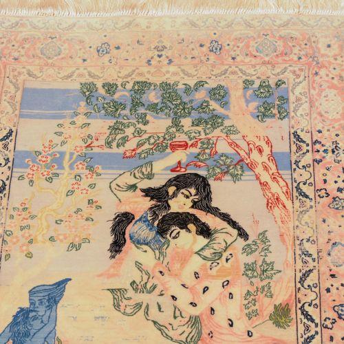 Isfahan Isfahan  Z Persia, c. 1960. Poil de laine de liège, chaîne de soie. Tapi…
