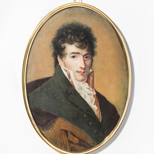 Porträtminiatur Portrait miniature  Paris, vers 1805. Gouache/ aquarelle sur ivo…