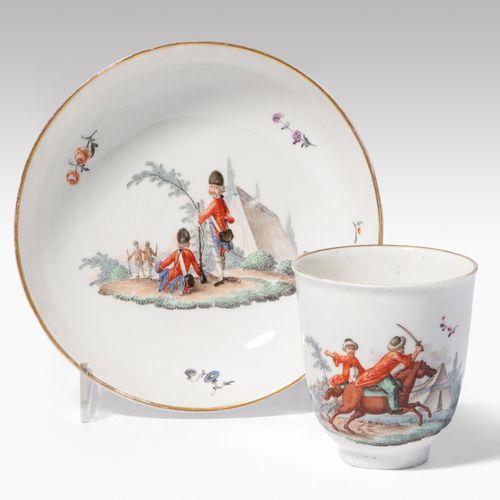 Deutschland, Tasse mit Untertasse Germania, tazza con piattino  Porcellana, circ…
