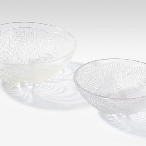 """René Lalique, 2 Schalen """"Coquille"""" René Lalique, 2 ciotole """"Coquille  Wingen sur…"""
