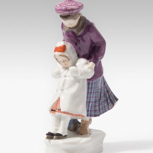 """Meissen, Figur """"Der erste Schlittschuhlauf"""" Meissen, Figura """"El primer patín"""".  …"""