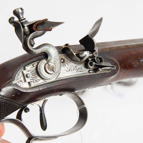 Steinschloss Duellpistolen Paar im Kasten Paire de pistolets de duel à silex dan…