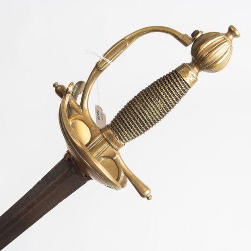 Offiziersdegen Épée de l'officier  France, milieu du XVIIIe siècle. Poignée en l…