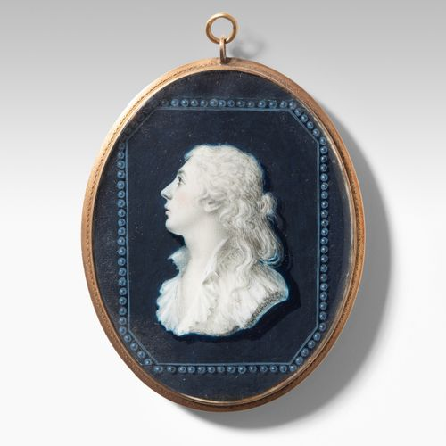 Porträtminiatur Porträtminiatur  Frankreich, um 1780. Grisaillemalerei auf Elfen…