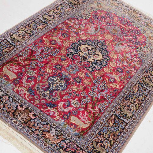 Isfahan Isfahan  Z Persia, c. 1970. Material de pelo de lana de corcho, urdimbre…