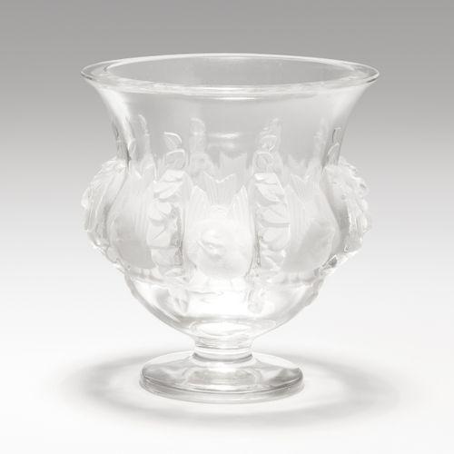 """Lalique, Vase Lalique, Vase  Mitte 20.Jh. Modell von Marc Lalique, 1948, """"Dampie…"""