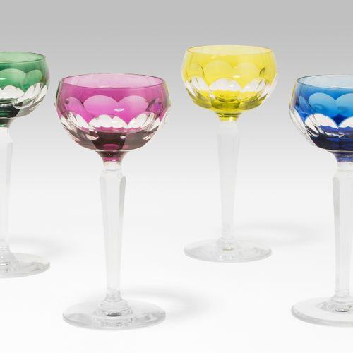 Val St. Lambert, 12 Weingläser Val St. Lambert, 12 copas de vino  Vaso de crista…