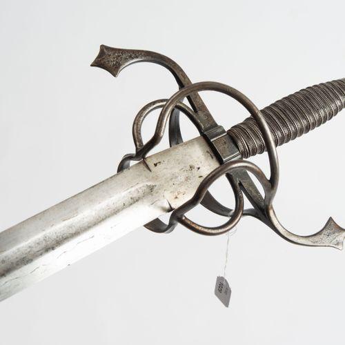 Schwert Épée  Allemagne, 1ère moitié du 17ème siècle. Garde en fer avec un pomme…