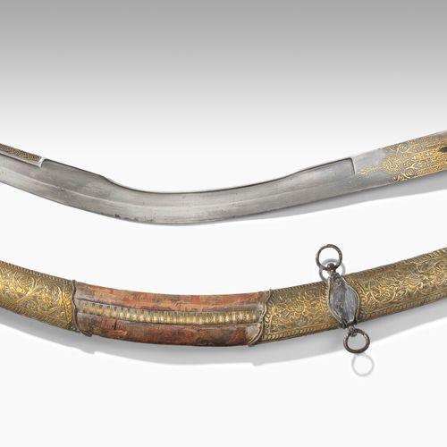 Säbel, Kilic Sabre, Kilic  Ottoman, 17e/18e s. Vaisseau avec des écailles de poi…