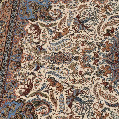 Isfahan Isfahan  Z Persia, 1960 circa. Materiale in pile di lana di sughero, ord…