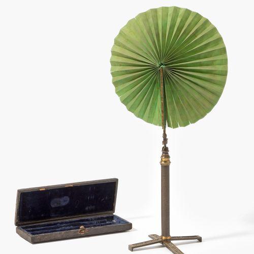 Reise Lichtschirm Abat jour itinérant  Vers 1820. Brass. Support réglable avec p…
