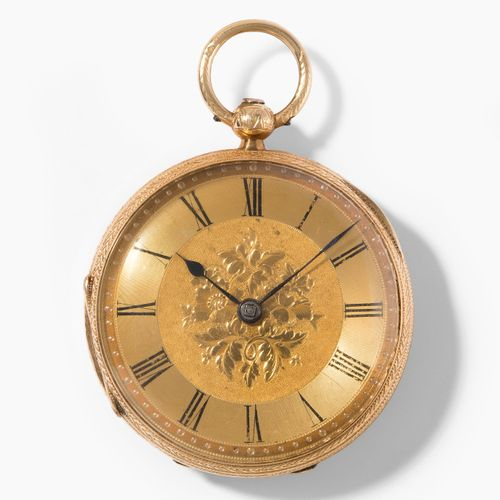 Gold Taschenuhr, England, um 1868 Montre de poche en or, Angleterre, vers 1868. …