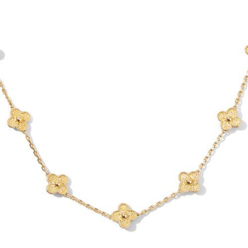 """Van Cleef & Arpels Collier """"Alhambra"""" Van Cleef & Arpels """"Alhambra"""" 项链  750黄金。有签…"""