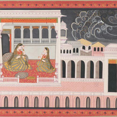 Miniaturmalerei Peinture miniature  Inde, fin du XIXe siècle Rajasthan. Couleurs…