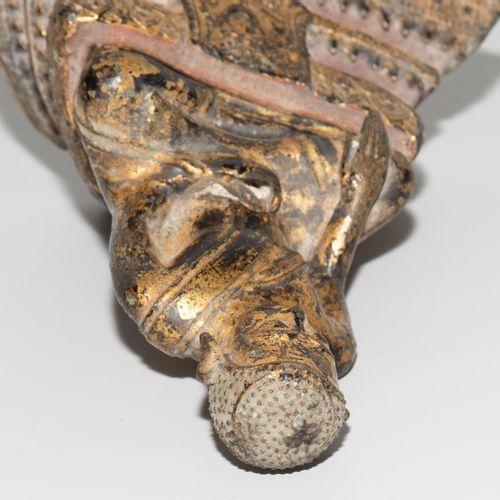SITZENDER BODHISATTVA Bodhisattva assis  La Thaïlande. Rotin akosin. Bronze, dor…