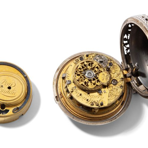 Spindeltaschenuhr, Godfrie Poy, London, um 1740 Montre de poche à fuseau, Godfri…