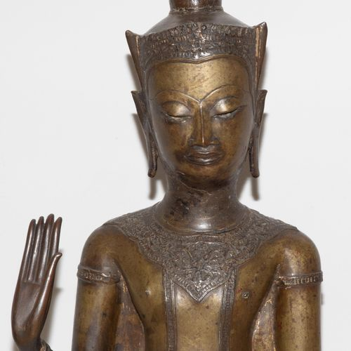 Stehender Buddha Bouddha debout  Thaïlande, période Ayutthaya, puis style Sukjot…