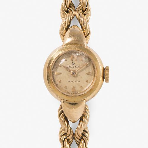 "Rolex ""Precision"", 1950er Jahre 劳力士 ""精密"",1950年代  750黄金表壳,编号8276,15.5毫米。小型手动上链机芯,…"