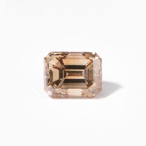 Loser Diamant 散装钻石  2.06克拉,花式黄褐色,自然色,vs2,祖母绿切割。DPL证书,12.2018。